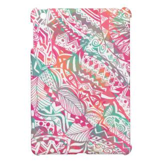vrouwelijk hand getrokken roze stammen hoesje voor iPad mini