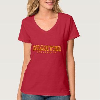Vrouwelijke Nano v-Hals Hanes T-shirt