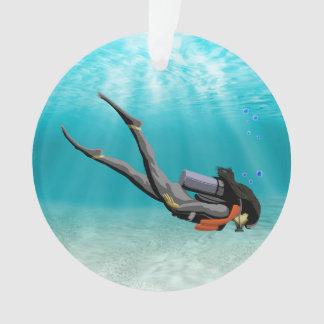 Vrouwelijke S.C.U.B.A. Diver Ornament