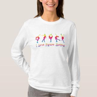 vrouwen - de liefdekunstschaatsen van I, heldere T Shirt
