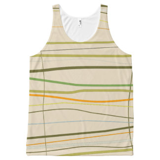 Vrouwen helemaal over Gestripte Tanktop All-Over-Print Tank Top
