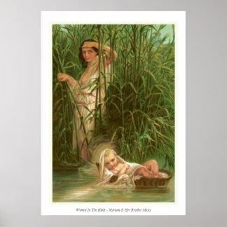 Vrouwen in de Bijbel - Miriam & Haar Broer Mozes Poster