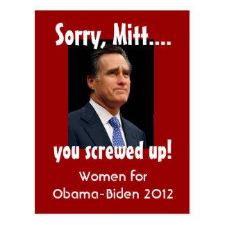Vrouwen tegen Mitt Briefkaart