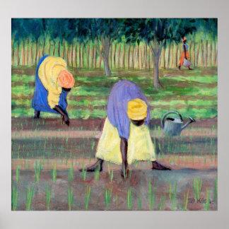 Vrouwen Tuinierende 2005 Poster