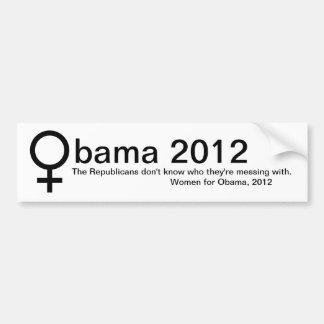Vrouwen voor Obama Bumpersticker