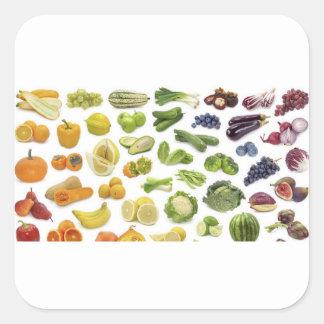 Vruchten en Veggies! Vierkante Sticker