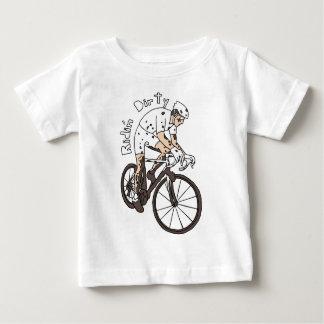 Vuil Berijden van de Ruiter van Cyclocross Baby T Shirts