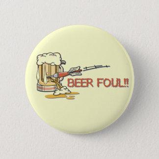 Vuil bier!! Knoop Ronde Button 5,7 Cm