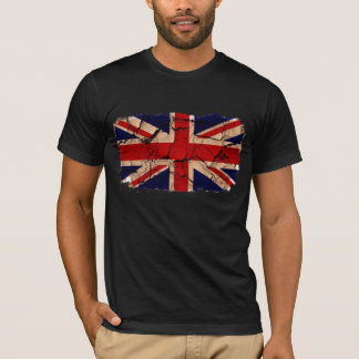 Vuile Vintage Britse Vlag T Shirt