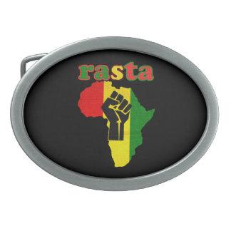 Vuist van de Macht van Rasta de Zwarte over de Gespen