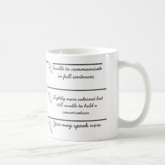 Vul lijnen u grappige koffiemok kunt nu spreken