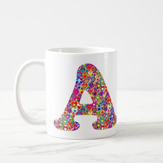 Vulde het Kleurrijke Dynamische Hart van de pret Koffiemok