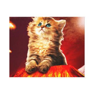 vulkaan kat, vulcan kat, canvas afdrukken