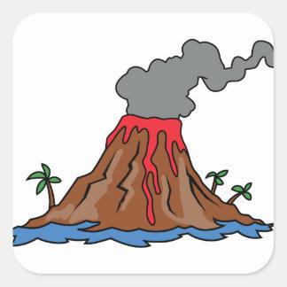 Vulkaan Vierkante Sticker