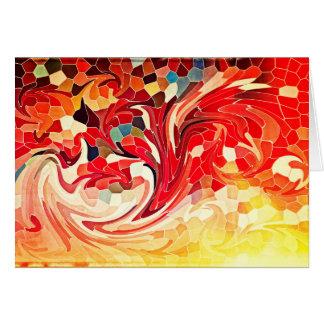 Vurige Rode Geel van abstracte Firebirds van het Kaart
