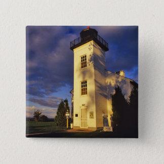 Vuurtoren in Escanaba OP Michigan Vierkante Button 5,1 Cm