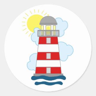 Vuurtoren Ronde Sticker