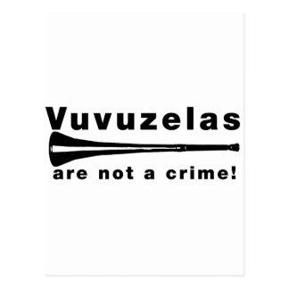 Vuvuzelas is geen misdaad briefkaart