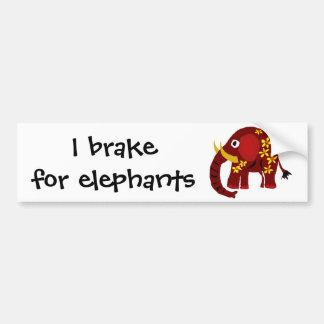 VW olifant en het Primitieve Art. van Madeliefjes Bumpersticker