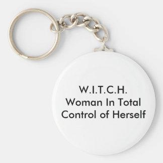 W.I.T.C.H.Woman in Totale Controle van zich Sleutelhanger