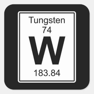 W - Wolfram Vierkante Sticker