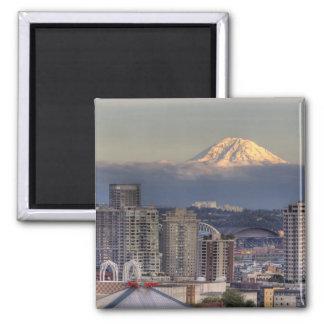 WA, Seattle, zet Regenachtiger van het Park van Ke Koelkast Magneetjes