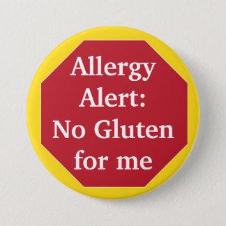 Waakzame allergie:  Geen Gluten Ronde Button 7,6 Cm