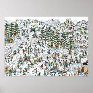 Waar de Hellingen van de Ski Waldo is Poster