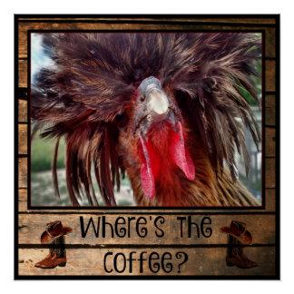 Waar de Koffie met Poolse Kip is Perfect Poster