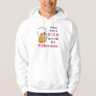 Waar er Bier - visser is Hoodie