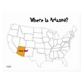 Waar is Arizona? Briefkaart