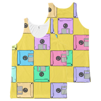 Waar is de diskette? All-Over-Print tank top