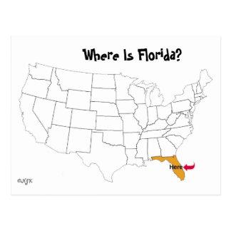 Waar is Florida? Briefkaart