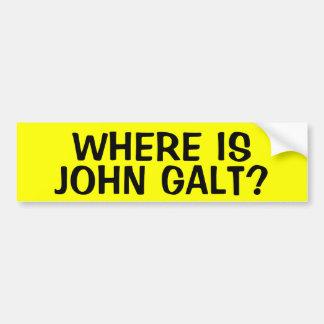 WAAR IS JOHN GALT? BUMPERSTICKER
