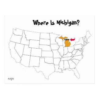 Waar is Michigan? Briefkaart
