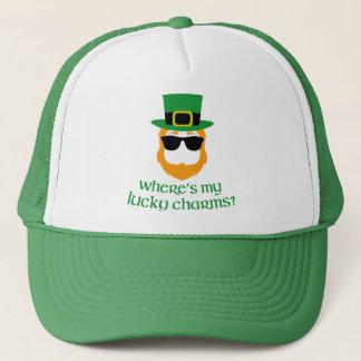 Waar is Mijn Gelukkige Charmes? St Patrick Day Trucker Pet