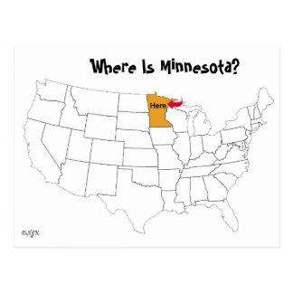 Waar is Minnesota? Briefkaart