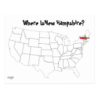 Waar is Van Newhampshire? Briefkaart