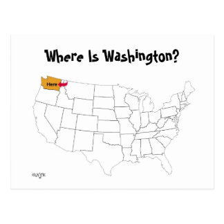 Waar is Washington? Briefkaart