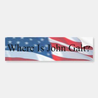 WAAR JOHN GALT-VLAG IS BUMPERSTICKER