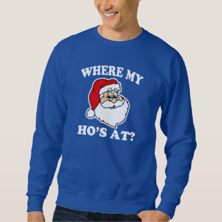 Waar mijn Ho bij? de grappige sweater van Kerstmis