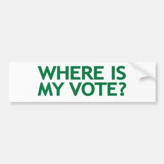 waar mijn stem (de Verkiezing van Iran) is Bumpersticker