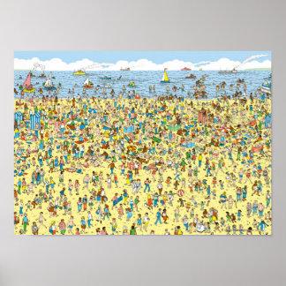 Waar Waldo op het Strand is Poster