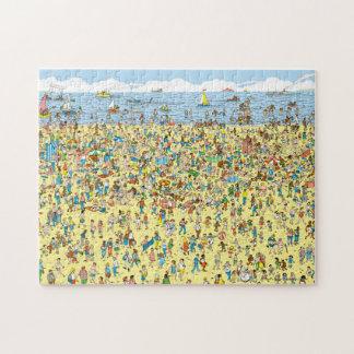 Waar Waldo op het Strand is Puzzel