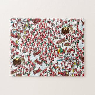 Waar Waldo   Zijnd Kerstman is Legpuzzel
