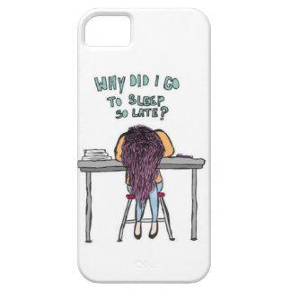 """""""Waarom ik naar slaap zo laat"""" iphone 5 hoesje gin"""