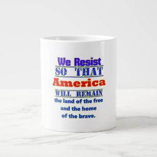 Waarom wij ons verzetten tegen. Voor Amerca Grote Koffiekop