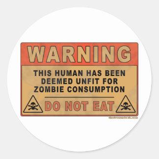 Waarschuwen Ongeschikt voor de Consumptie van de Z Ronde Sticker
