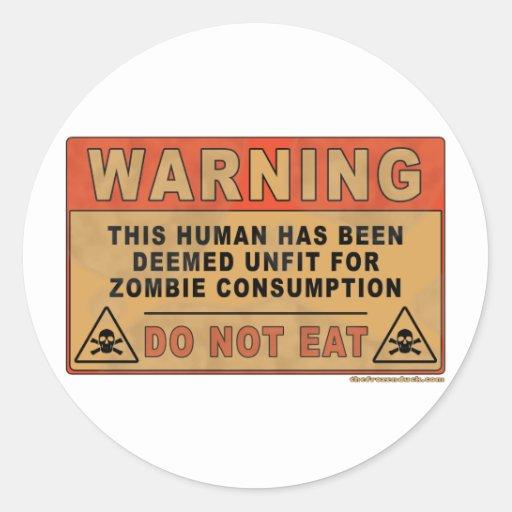 Waarschuwen Ongeschikt voor de Consumptie van de Z Sticker