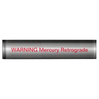 Waarschuwing Achteruitgaand Mercury Naambord